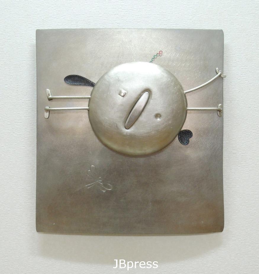 강찬균(금속공예), 가자 가자, 백동, 알미늄, 310x360x60mm, 1996.jpg